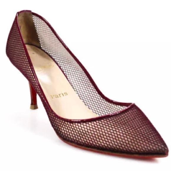 online retailer 376e4 f27d7 **AVAILABLE** Christian Louboutin mesh low heel